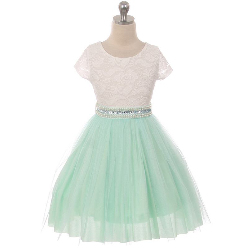 Yellow Cap Sleeve Lace Top Tulle Skirt Flower Girls Dresses