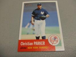 2002 Topps Heritage #424 Christian Parker SP Short Print New York Yankees - $3.12