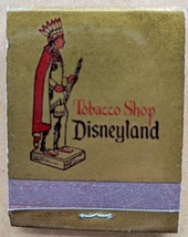 DISNEYLAND TOBACCO SHOP Anaheim Calif Vintage Matchbook Unused LN Chief - $14.85