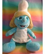 "2011 Build-A-Bear Workshop Smurfs Smurfette 17"" Plush Doll w/ White Dress - $14.82"