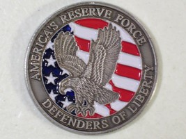 AMERICA'S RESERVE FORCE DEFENDERS OF LIBERTY CHALLENGE COIN MEDAL MILITA... - $11.71
