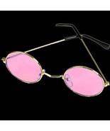 Groovy Hippie Funky Novelty ROUND COSTUME GLASSES Retro Lennon Gold Fram... - $5.91