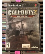Sony Playstation 2 Video Game PS2 Call Of Duty 2 The Big Red One Complet... - $9.49