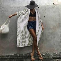 ZANZEA 2018 Summer Summer Women Boho Cardigan Blouse Long Shirt Striped ... - $43.14