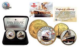 1912 TITANIC Ship 100th Anniversary 24K Gold  2 Coin Set Half Dollar Qua... - $19.62