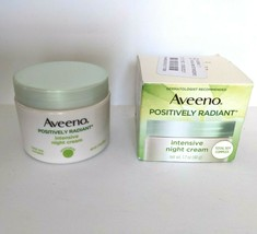 Aveeno Positively Radiant Intensive Night Cream 1.7 oz Face and Neck Soy... - $18.37