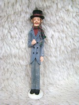 Ceramic Tall Christmastime Man w/ Top Hat Figurine/Statue Collectible Ho... - $9.99