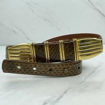 Dame Brown Vintage Genuine Snake Skin Belt Size Medium M 28 - $24.18