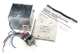 NEW DAYTON WIRING REVERSING SWITCH TO MOTOR FOR USE WITH 5M188F THRU 5M193F