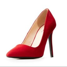 Qupid Pointed Toe Pumps Suede Size 9 - £31.82 GBP