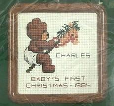 Vintage Dale Burdett Cross Stitch Kit Baby's 1st Christmas Kit Needlecraft - $8.20