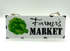 Farmhouse Metal Fresh Market Wall Hanger - $7.91