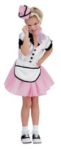 SODA POP GIRL 50's CAR HOP DINER WAITRESS GIRL'S HALLOWEEN COSTUME LARGE... - $23.02