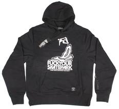 Dissizit Uomo Bianco Nero Fysp Fuck Tuo Skate Park Pullover Felpa Pullover Nwt image 1