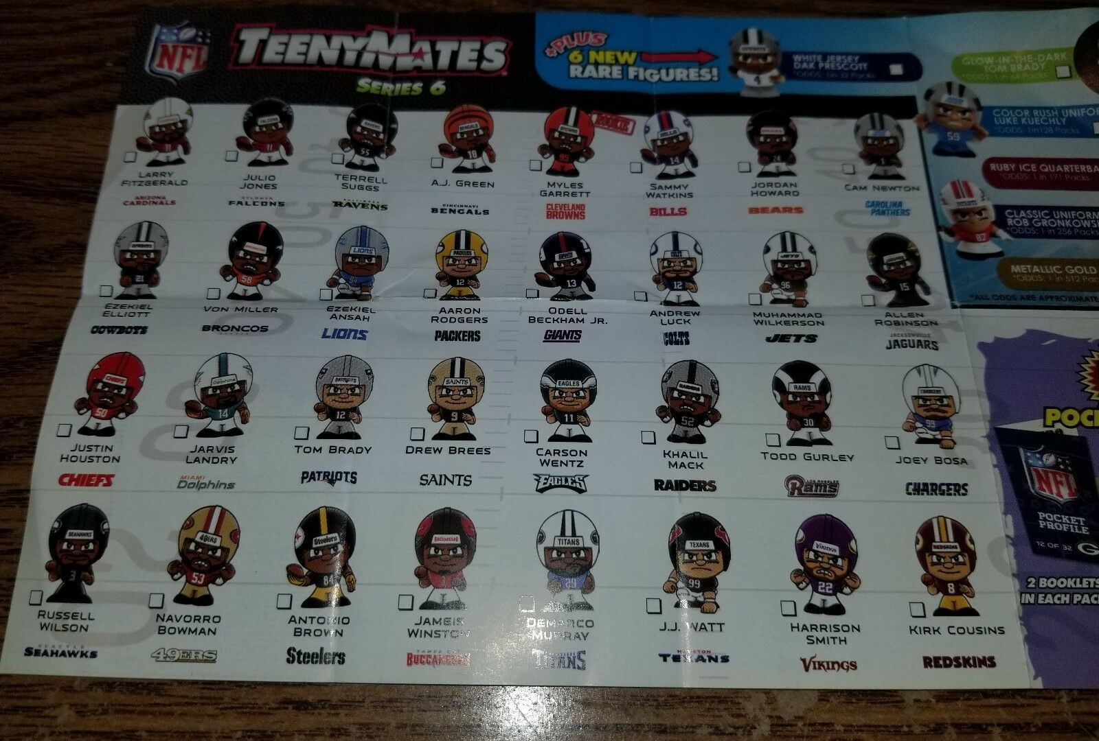 2017 NFL TEENYMATES SERIES 6 FOOTBALL - PICK YOUR FOOTBALL TEAM FIGURE NEW NEW!! image 9