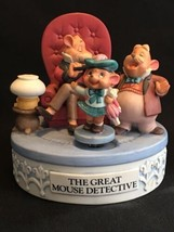 Disney Musical Memories The Great Mouse Detective  Porcelain Motion Musi... - $49.50