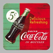 Coca Cola Delicious Refreshing Drink Bottle Bar 3D Drinks Table Coaster - $3.33