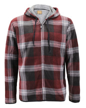 Men's Casual Flannel Zip Up Fleece Lined Plaid Sherpa Hoodie Lightweight Jacket image 2