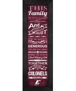 "Eastern Kentucky University ""Colonels""24 x 8 Family Cheer Framed Print - $39.95"