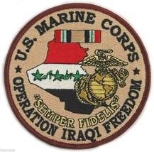 "MARINE CORPS 4"" OPERATION IRAQI FREEDOM MEDAL USMC EMBROIDERED MILITARY ... - $18.04"