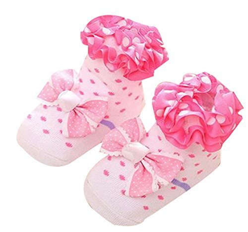 0-1 Years Old Newborn Baby Lace Socks Stereo Socks Floor Socks