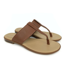 Timberland Women's Cherrybrook Brown Leather Thong Sandals A1OZ5 - $49.99