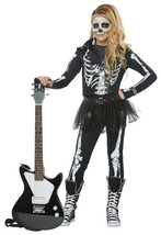 California Costumes Skeleton Rocker Girls Halloween Costume Cosplay Part... - $41.99