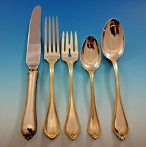 Old Newbury Gold Accent by Towle Sterling Silver Flatware Set 8 Service ... - $2,610.00