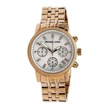 Michael Kors Women's Watch Ladies Rose Gold Steel Bracelet Pearl Dial MK5026 - $205.65