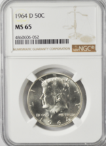 1964 D 50c Kennedy Silver Half Dollar NGC MS65 Denver Fifty Cents Toned ... - $34.64