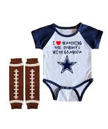 Dallas  Cowboys Onesie Uniform Jersey Watching With Grandpa - $21.95+