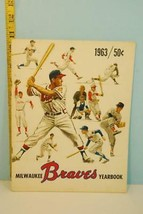 1963 Milwaukee Braves Baseball Official Yearbook - $28.71