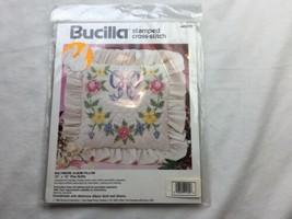 NOS Bucilla Stamped Cross Stitch Baltimore Pillow Kit 40605 12 x 12 Plus... - $14.64