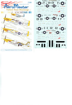 AEROMASTER   1/72  (72-208)  YELLOW NOSE MUSTANGS OF THE 361ST F.G.     ... - $9.48