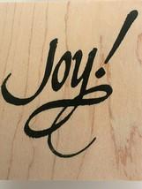 DeNami Design Joy Wooden Rubber Stamp Christmas Holidays Card Making Cra... - $12.50