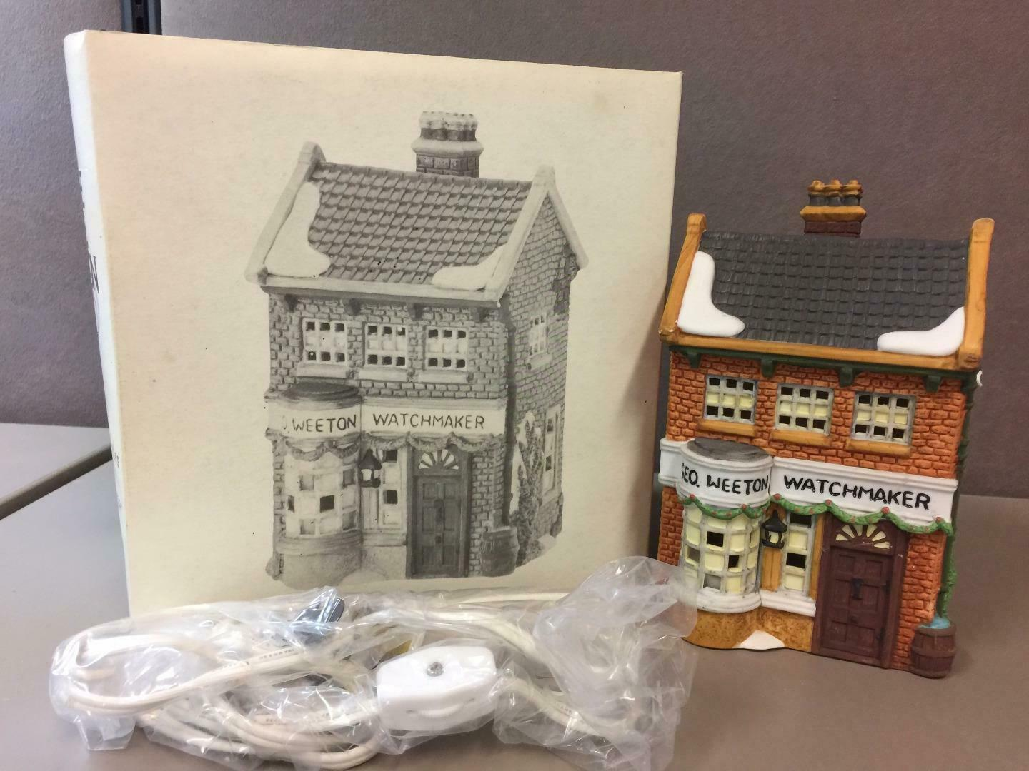 "Primary image for DEPT 56 DICKENS VILLAGE ""GEO WEETON WATCHMAKER"" 59269 RETIRED IN BOX"