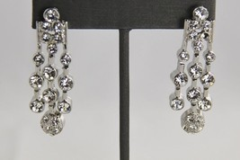 Vintage Fashion Jewelry Crystal Cz ? High End Dangle Earrings - Estate - $10.00