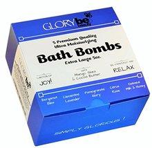 Bath Bombs 5 USA Made Premium XL FIVE OZ. w Shea Mango Cocoa Butter Lush... - $28.47