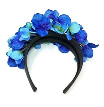 Blue and Purple Color Flower Headband, Ladies Boho Style Hair Accessories - $25.99