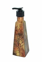 Sand and Water Creations Hand Painted Soap Dispenser Gold Copper - $38.00