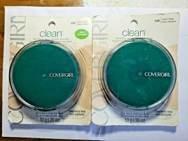 2 x CoverGirl Clean # 230 Classic Beige Fragrance Free Pressed Face Powder 2pc - $21.50