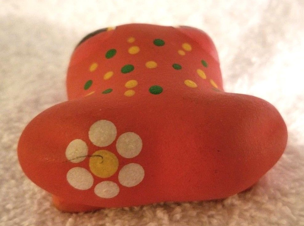 Gloria A Dios Ceramic Frog Figurine Hand Painted Signed Costa Rica ADORABLE! image 2