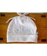 Girls 3 to 9 Months Pink Winter Hat w/ Snowflakes Soft Fleece Cotton Blend - $4.46