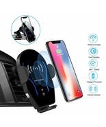 Wireless Qi Fast Car Charger Cell Phone Mount Holder Auto Clamp iPhone S... - $21.73