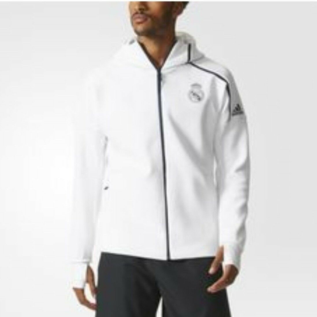 adidas Real Madrid 201920 Anthem Jacket WhiteDark Footba