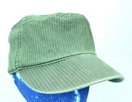 Puma Green Pin Striped Cadet Military Cap Hat Sz S / M Box Ship - $22.99