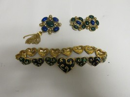 Costume Jewelry ,Vintage , Neck , Ear , Pin , Blue/Green - $44.55