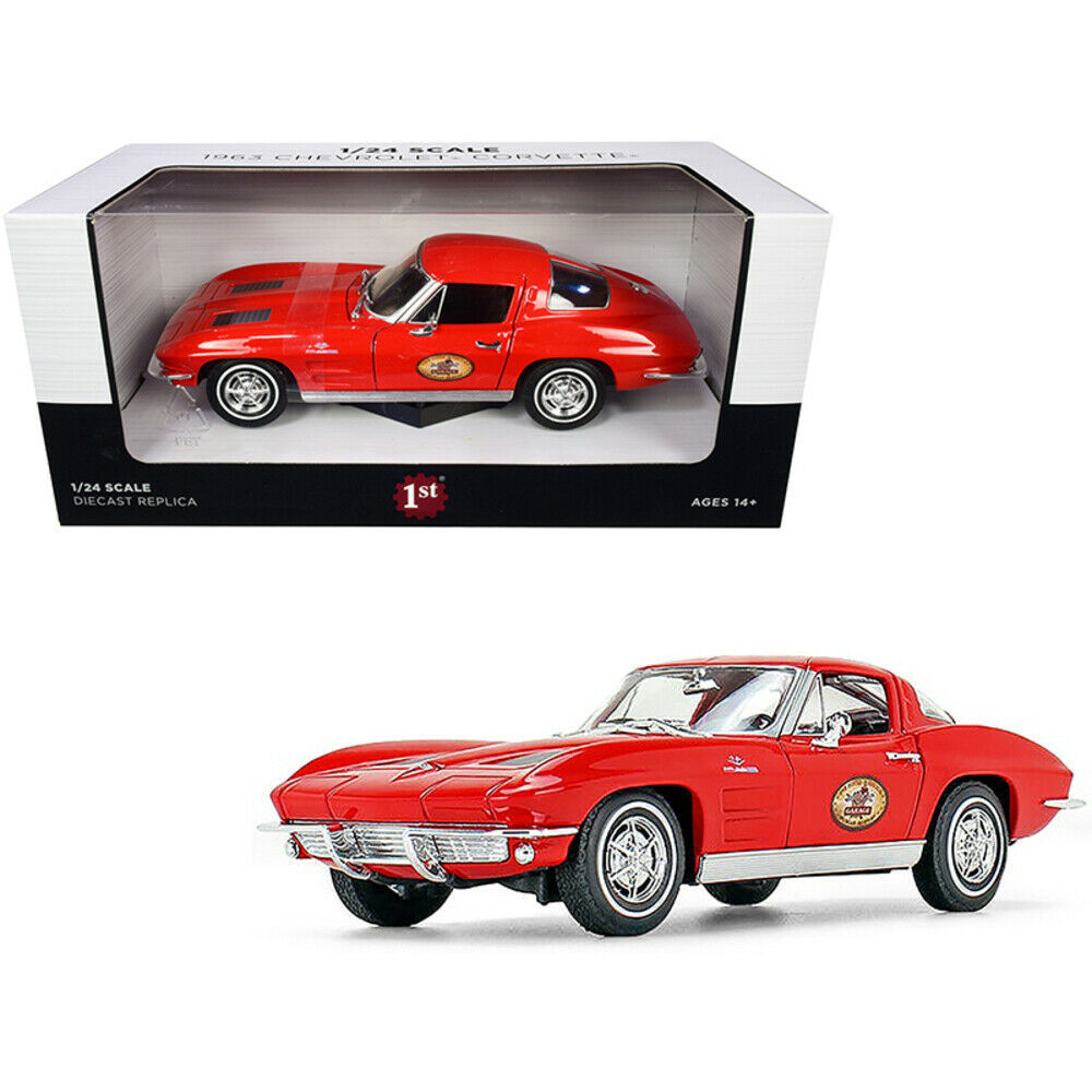 1963 Chevrolet Corvette Red The Busted Knuckle Garage 1/24 Diecast Model Car ... - $49.60