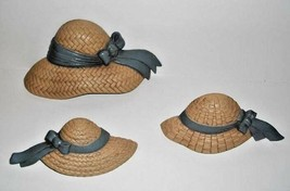 VINTAGE STRAW HATS~HOME INTERIOR~HOMCO~1987~BURWOOD - $14.80