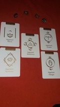 Angelic symbols with Energy Cards Reading with FIVE cards.  - $14.99